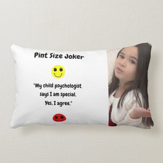 Pint Size Joker: Child Psychologist Special Lumbar Pillow