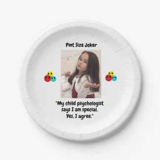Pint Size Joker: Child Psychologist Special Paper Plate
