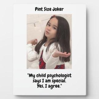 Pint Size Joker: Child Psychologist Special Plaque