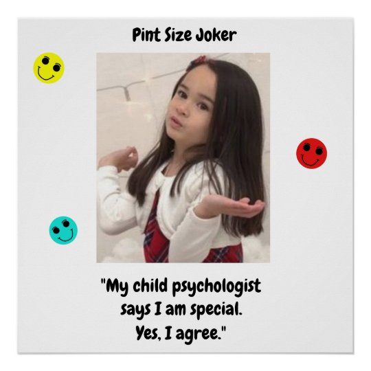Pint Size Joker: Child Psychologist Special Poster