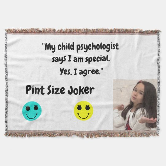 Pint Size Joker: Child Psychologist Special Throw Blanket
