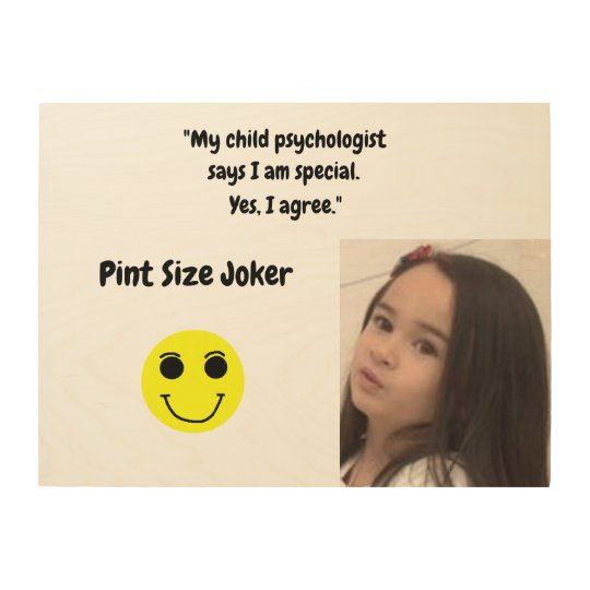 Pint Size Joker: Child Psychologist Special Wood Wall Art