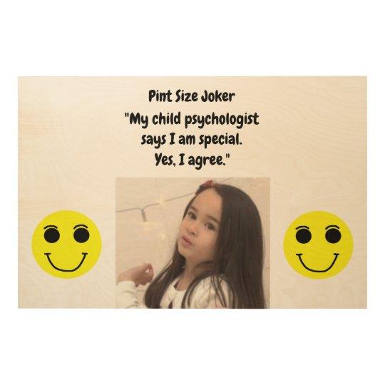 Pint Size Joker: Child Psychologist Special Wood Wall Decor