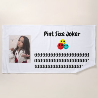 Pint Size Joker Design: Adult-Sized Booster Seat Beach Towel