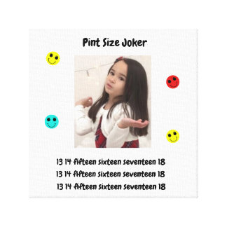 Pint Size Joker Design: Adult-Sized Booster Seat Canvas Print