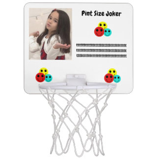 Pint Size Joker Design: Adult-Sized Booster Seat Mini Basketball Hoop
