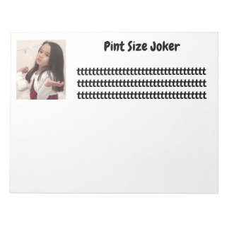Pint Size Joker Design: Adult-Sized Booster Seat Notepad