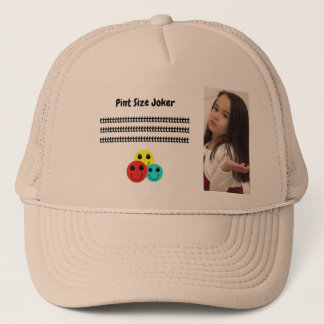 Pint Size Joker Design: Adult-Sized Booster Seat Trucker Hat
