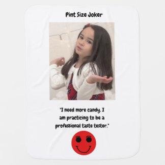 Pint Size Joker Design: Candy Taste Tester Baby Blanket