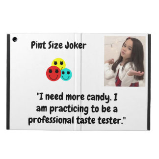 Pint Size Joker Design: Candy Taste Tester iPad Air Cover