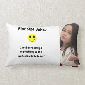 Pint Size Joker Design: Candy Taste Tester Lumbar Pillow