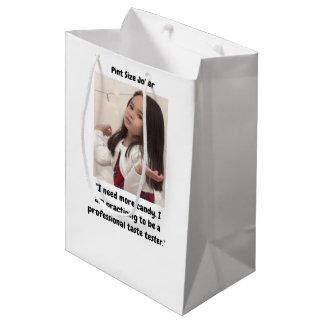 Pint Size Joker Design: Candy Taste Tester Medium Gift Bag
