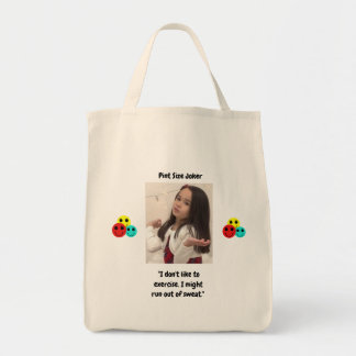 Pint Size Joker Design: Exercise And Sweat Tote Bag