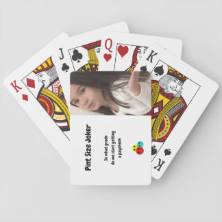 Pint Size Joker Design: Grades And Paychecks Playing Cards