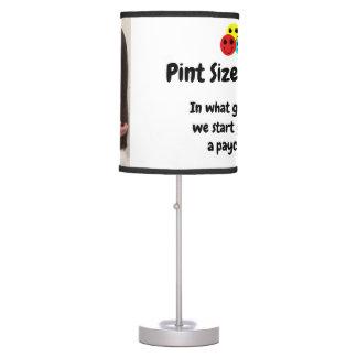 Pint Size Joker Design: Grades And Paychecks Table Lamp