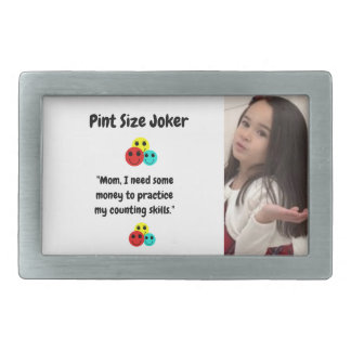Pint Size Joker Design: Money And Counting Skills Belt Buckle