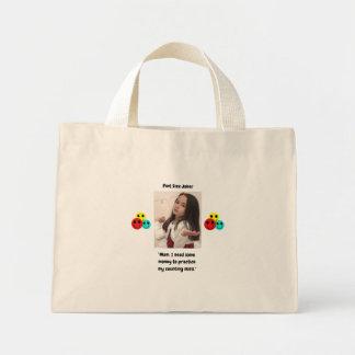 Pint Size Joker Design: Money And Counting Skills Mini Tote Bag