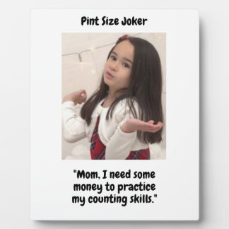 Pint Size Joker Design: Money And Counting Skills Plaque