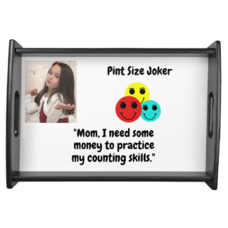 Pint Size Joker Design: Money And Counting Skills Serving Tray
