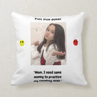 Pint Size Joker Design: Money And Counting Skills Throw Pillow