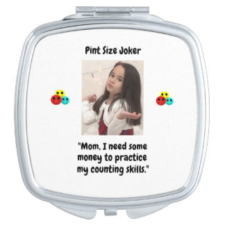 Pint Size Joker Design: Money And Counting Skills Travel Mirror