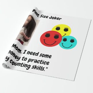 Pint Size Joker Design: Money And Counting Skills Wrapping Paper
