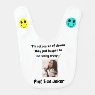 Pint Size Joker Design: Scary, Creepy Clowns Bib