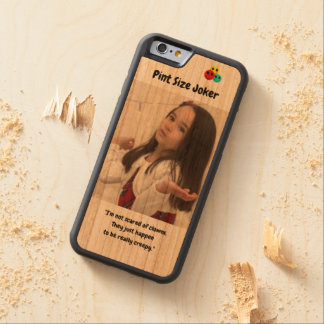 Pint Size Joker Design: Scary, Creepy Clowns Carved Cherry iPhone 6 Bumper Case