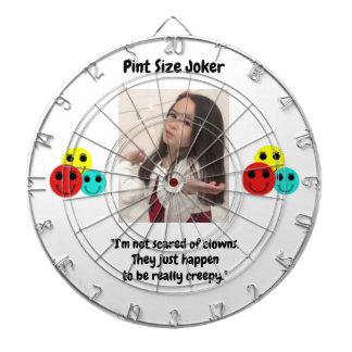 Pint Size Joker Design: Scary, Creepy Clowns Dartboard