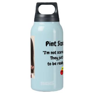 Pint Size Joker Design: Scary, Creepy Clowns Insulated Water Bottle