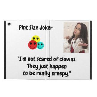 Pint Size Joker Design: Scary, Creepy Clowns iPad Air Cover