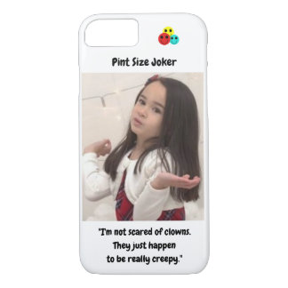 Pint Size Joker Design: Scary, Creepy Clowns iPhone 8/7 Case