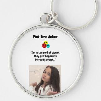 Pint Size Joker Design: Scary, Creepy Clowns Keychain