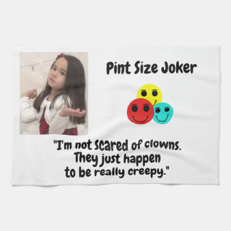 Pint Size Joker Design: Scary, Creepy Clowns Kitchen Towel