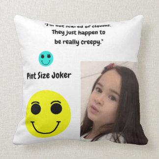 Pint Size Joker Design: Scary, Creepy Clowns Throw Pillow