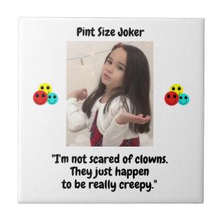 Pint Size Joker Design: Scary, Creepy Clowns Tile
