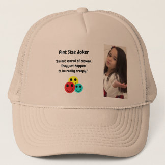 Pint Size Joker Design: Scary, Creepy Clowns Trucker Hat