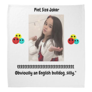 Pint Size Joker: English Bulldog Bandana