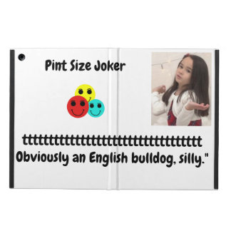 Pint Size Joker: English Bulldog iPad Air Case