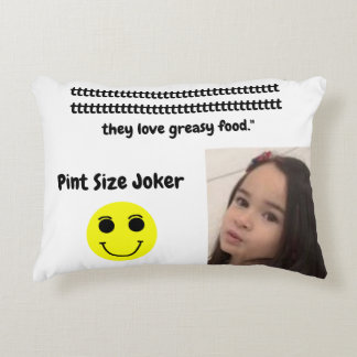 Pint Size Joker: English Bulldogs And Greasy Food Accent Pillow
