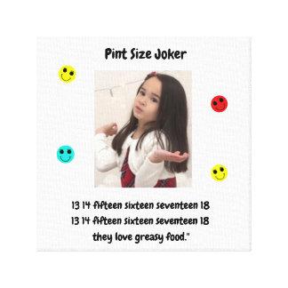 Pint Size Joker: English Bulldogs And Greasy Food Canvas Print