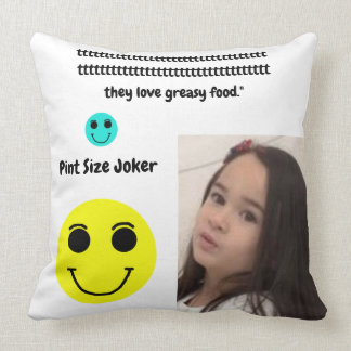 Pint Size Joker: English Bulldogs And Greasy Food Throw Pillow