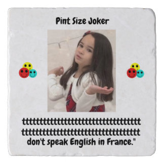 Pint Size Joker: French Poodle Speaks English Trivet