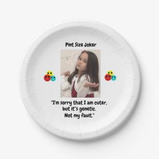 Pint Size Joker: Genetic Cuteness Not My Fault Paper Plate