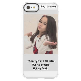 Pint Size Joker: Genetic Cuteness Not My Fault Permafrost® iPhone SE/5/5s Case