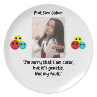 Pint Size Joker: Genetic Cuteness Not My Fault Plate