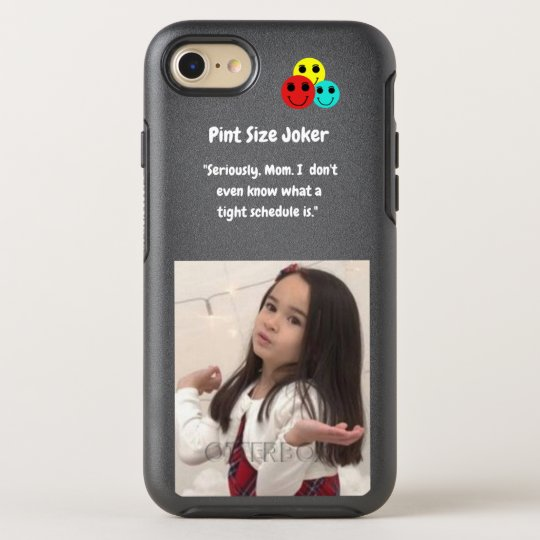 Pint Size Joker: Mom And Her Tight Schedule OtterBox Symmetry iPhone 8/7 Case