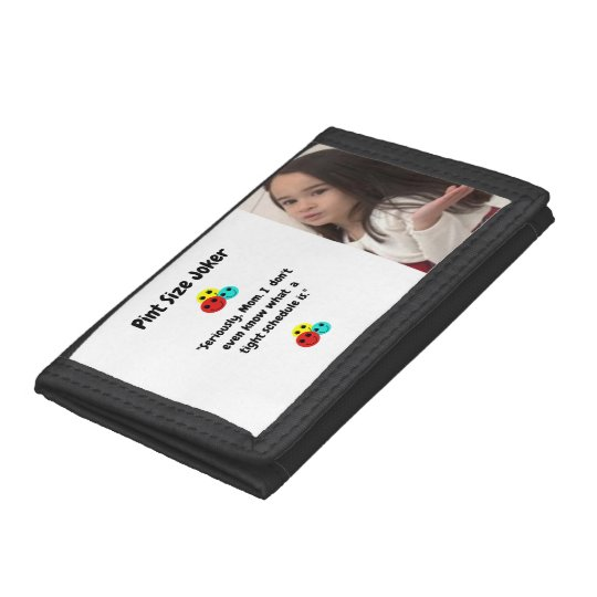 Pint Size Joker: Mom And Her Tight Schedule Tri-fold Wallet