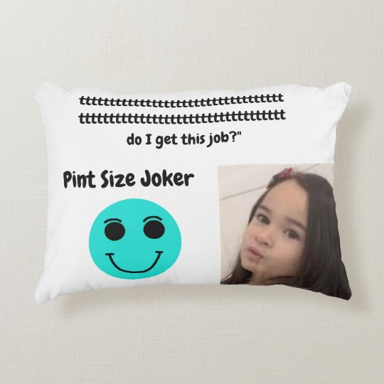 Pint Size Joker: Santa Claus Works 1 Day a Year Accent Pillow