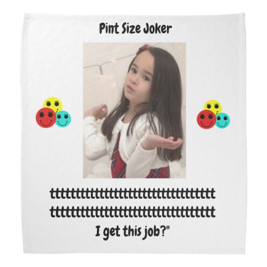 Pint Size Joker: Santa Claus Works 1 Day a Year Bandana